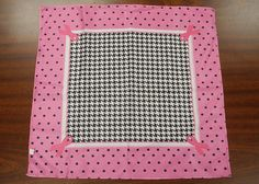 """Square scarf that was used by Sylvia Bittner from the Etsy shop """"Hankie Chic"""" to make custom Barbie Doll items for me."""