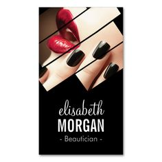 Modern Black and Red Fashion Makeup Beauty Salon Double-Sided Standard Business Cards (Pack Of 100). This great business card design is available for customization. All text style, colors, sizes can be modified to fit your needs. Just click the image to learn more!