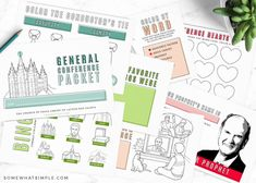 General Conference Activities For Kids, Primary Activities, Activities For Girls, Printable Activities For Kids, Primary Lessons, Free Activities, Sunday Activities, Activity Day Girls, Activity Days