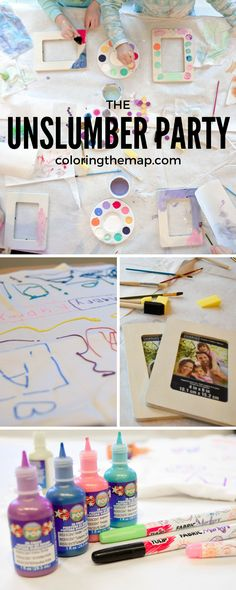 Not ready for an actual sleepover party yet? Try an unslumber party - perfect for 5 year old girls and up! (Also called nonsleepover party). #unslumberparty #almostsleepover #nonsleepover #nonsleepoverparty #sleepovercrafts #sleepover #kidcrafts #kidart #create 9 Year Old Girl Birthday, Sleepover Birthday Parties, Girl Sleepover, Girls Birthday Party Themes, 8th Birthday, Sleepover Crafts, Birthday Ideas, Sleepover Games, Pajama Party