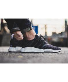 4efdae1ee UK Store Cheap Sale Adidas NMD R1 Black On Feet