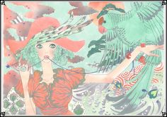 """Moyoco Anno """"The Parrot master Ⅰ A for """"VOGUE NIPPON"""" issued June 2009""""  2009"""