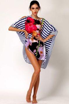 e91bd2b1e53d2 ... big mouth stripes beach dress. Navy StripesBikini SwimwearBikinisBeach  Wear DressesStripe PrintWomen SwimsuitsBeach CoversShort Sleeve  DressesAustralia