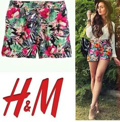 H&M floral short IDR 115k