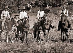 A group of Texas cowboys, circa 1890.