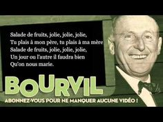 Bourvil - Salade de fruits - Paroles (Lyrics) ... les enfants adorent la chanter ...
