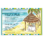 Tiki Shack Invitation by Printswell, Discounted. Casual Wedding Invitations, Luau Party Invitations, Discount Wedding Invitations, Rehearsal Dinner Invitations, Beach Wedding Invitations, Unique Wedding Invitations, Wedding Stationery, Wedding Dress Preservation, Wedding Insurance