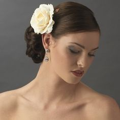 Ariana- Beautiful creamy rose bridal hair flower pin - SALE!!