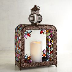 Gypsy Gem Boho Square Hanging Lantern