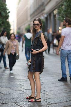 Caroline Brasch Nielsen #streetstyle #fashion #modeloffduty