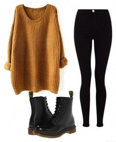 cute outfits for winter ~ cute outfits ; cute outfits for school ; cute outfits for winter ; cute outfits with leggings ; cute outfits for women ; cute outfits for school for highschool ; cute outfits for spring Winter Outfits Women, Winter Fashion Outfits, Autumn Winter Fashion, Fall Outfits, Woman Outfits, Black Outfits, Fashion Dresses, Fashion Clothes, Grunge Winter Outfits