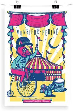 Serigrafia para Monsieur Perine MercadoramaTone Olvera