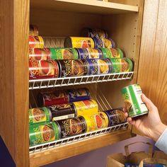 Organizacion - Organizer - Kitchen Storage Solutions: Pantry Storage Tips & Cabinet Organization Tips Organisation Hacks, Organizing Hacks, Kitchen Organization, Closet Organization, Diy Hacks, Kitchen Cabinets Upgrade, Kitchen Pantry, Kitchen Hacks, Organized Kitchen