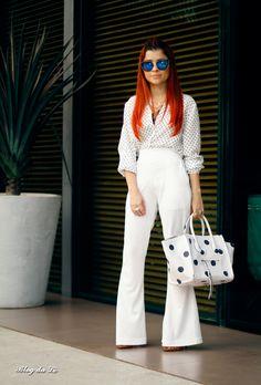 Blog da Lê-Moda e Estílo: Look - Branco e poá