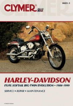M421 3 1984 1999 Harley Davidson Fxs Fls Softail Evolution Clymer Motorcycle Repair Manual Clymer Harley Davidson Motorcycle Repair