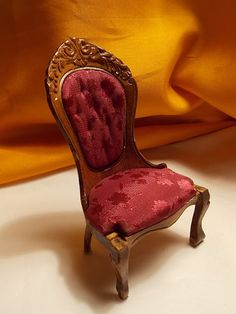 Dollhouse Chair Victorian Upholstered Chair by Louisianaminis, $6.25
