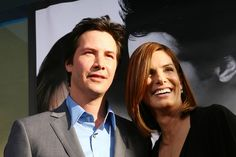 "Keanu Reeves and Sandra Bullock at the premiere of ""The Lake House"", 2006 Dance Like This, Keanu Reaves, Goofy Face, Keanu Charles Reeves, Jesse James, Hot Actors, Matthew Mcconaughey, Famous Celebrities, Sandra Bullock"