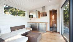 Sekelskifte på strandtomt med kvällssol Nordic Home, Saunas, Cabin, Boat House, Interior, Outdoor Decor, Home Decor, Homemade Home Decor, Indoor