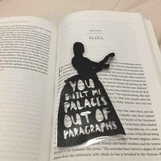 This bookmark that expresses Hamilton's power of the pen and Eliza's rightful heartbreak.