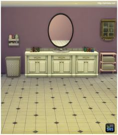 My Sims 4 Blog: Basic Oval Mirror by Mr S