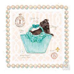Teacup Yorkie Puppy Purse Art Print by Chad Barrett at Art.com