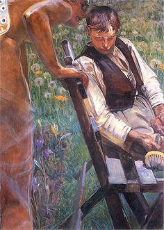 Jacek Malczewski - Malarczyk and his muse (Whispers)