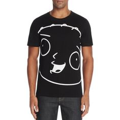 Eleven Paris Fastewi Graphic Tee ($60) ❤ liked on Polyvore featuring men's fashion, men's clothing, men's shirts, men's t-shirts, black, guy harvey mens shirts and mens graphic t shirts