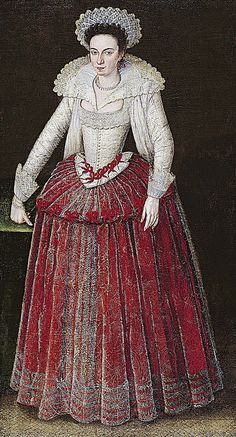 ca. 1605-1610 Lady Arabella Stuart by Marcus Gheeraerts the Younger Norton Simon Museum - Pasadena, California USA