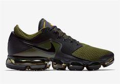 huge selection of ca734 06c2f Men's Nike Air VaporMax CS Shoes Army Green/Black/Yellow AH9046-005 UK  Trainers Sale