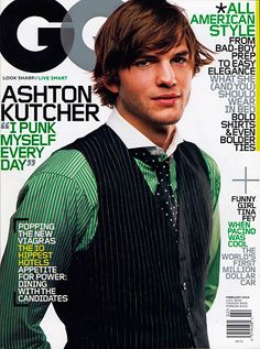 This cover caught my attention because of the quote on the left. The color of the text matches his shirt, and is associated with his tv show. My eyes were then drawn down along the vertical lines in his shirt to the article headline in the bottom left. The cover is designed to match the subject, which is vertical, and green. The article headlines on the right are very narrow, and only exist in the negative space of the image.