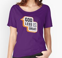 "Good without gods? Tell the world with a ""Godless is Great"" design from Little Heathens Unite and help spread the good word about secular life.  Little Heathens Unite encourages non-religious people everywhere to consider seeking out like-minded free thinkers and uniting in our mission to live the best secular life. • Also buy this artwork and other atheist, humanist, and other secular designs on apparel, kids clothes, stickers, and more."