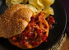 Slow Cooker Pulled Jerk Pork Sandwiches recipe from Betty Crocker. I use root beer and equal parts of sweet baby rays and kc hickory brown sugar. Beer Recipes, Slow Cooker Recipes, Crockpot Recipes, Great Recipes, Favorite Recipes, Delicious Recipes, Recipe Ideas, Chicken Recipes, Bon Appetit