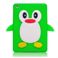 New cute 3D Penguin soft silicone case for ipad mini 1.Fashion Case Cover 2.Ultra Thin,soft and high quality 3.many colors