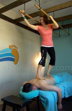 Advanced Ashiatsu Continuing Education Training for Licensed Massage Therapists in Texas. http://www.heelingsole.com/advanced-ashiatsu.html