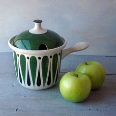 A rare Comedia style Sauce Pot designed by Stig Lindberg in the 1950s for the Swedish porcelain company Gustavsberg. $275