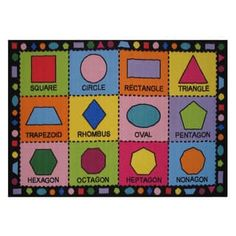 Shapes Multi-colored Accent Rug (3'3 x 4'8) | Overstock.com Shopping - The Best Deals on 3x5 - 4x6 Rugs