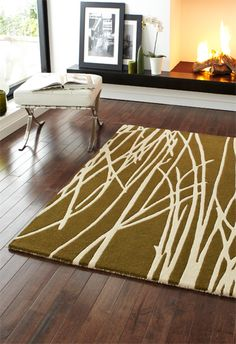 WovenGround Rugs   Modern Rugs   Reeds Rugs   Green   Lifestyle