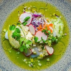Our Scallop #Aguachile is a thing of beauty. If you are looking for that fresh light delicious exotic dish that you can eat guilt free.... This one will just become your new favourite. #rostizado_yeg #MercerWarehouse #YegFood #Yegdt #ModernMexican by rostizado_yeg