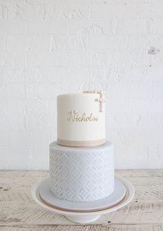 Boy christening cake