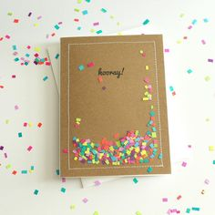 #hooray for Friday!  This card continues to be at the top of my favorites list.  #shakercards #confetti #handmade #etsychicago #madebyilyssa #abmcrafty #abmlifeiscolorful #crafttherainbow #shaker #hooray by madebyilyssa