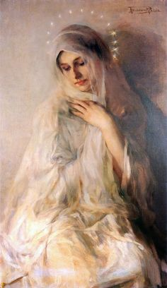 The Blessed Mother. She was given to us by Jesus to be our Mother, too. John 19:27.
