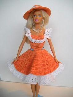 Vestido De Crochê Para Boneca Barbie - $12.00: