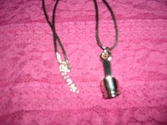 Unisex Black Leather Necklace with Piston Pendant Leather Necklace, Quad, Black Leather, Bike, Pendant Necklace, Unisex, Jewelry, Fashion, Leather Collar