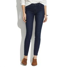 Madewell High Riser Skinny Skinny Ankle Jeans in Deep Blue Wash: 28 1/2 inch inseam for short girls!