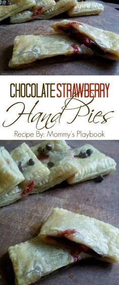 Chocolate Strawberry Hand Pie Recipe featured on Having Fun Saving & Cooking