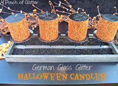 German Glass Glitter Halloween Candles: A Pinch of Glitter