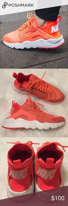 Nike Air Huarache Run Ultra •Color: Bright Mango/White  •Women's Size 8  •New in box (no lid).  •NO TRADES/PAYPAL/HOLDS Nike Shoes Sneakers