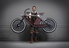 The Eclectic-Electric Cykno Bicycle with kilt
