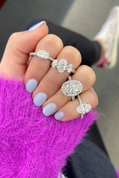 Oval diamond engagement rings come in all shapes and styles. Take a look at some of our oval diamond favorites! #ovaldiamond #oval #engagementrings #diamond