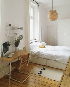 63 Ideas bedroom inspo dream rooms home office for 2019 Decor Room, Bedroom Decor, Bedroom Bed, Entryway Decor, Home Interior, Interior Design, Interior Modern, Minimalist Room, Aesthetic Bedroom